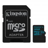 Карта памяти Kingston 32Gb microSD Class 10 UHS-I U3 R90/W45MB/s Canvas Go + adapter (SDCG2/32GB)