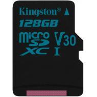 Карта памяти Kingston 128Gb microSD Class 10 UHS-I U3 R90/W45MB/s Canvas Go + adapter (SDCG2/128GB)