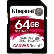 Карта памяти Kingston 64Gb SD Class 10 UHS-I U3 R100/W80MB/s (SDR/64GB)