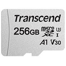 Карта памяти Transcend 256GB microSD Class 10 UHS-I + SD adapter (TS256GUSD300S-A)