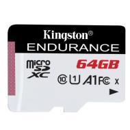 Карта памяти Kingston 64Gb microSD Class 10 UHS-I R90/W45MB/s High Endurance (SDCE/64GB)