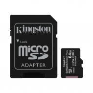 Карта памяти Kingston 64Gb microSD Class 10 UHS-I R100MB/s Canvas Select Plus + SD (SDCS2/64GB)