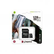 Карта памяти Kingston 128Gb microSD Class 10 UHS-I R100/W85MB/s Canvas Select Plus + SD (SDCS2/128GB)
