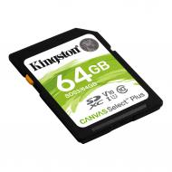 Карта памяти Kingston 64Gb SD Class 10 UHS-I R100MB/s (SDS2/64GB)