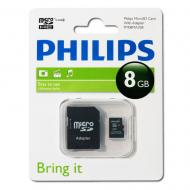Карта памяти Philips 8Gb microSD Class 4 + adapter (FM08MA35B/97)