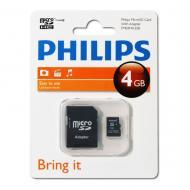 ����� ������ Philips 4Gb microSD Class 4 + adapter (FM04MA35B/97)