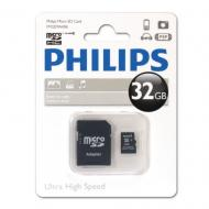 Карта памяти Philips 32Gb microSD Class 10 + adapter (FM32MA45B/97)