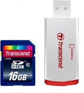 ����� ������ Transcend 16Gb SD Class 10 + RDP2 card reader (TS16GSDHC10-P2)