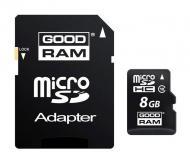 Карта памяти Goodram 8Gb microSD Class 10 + adapter UHS-1 (SDU8GHCUHS1AGRR10)