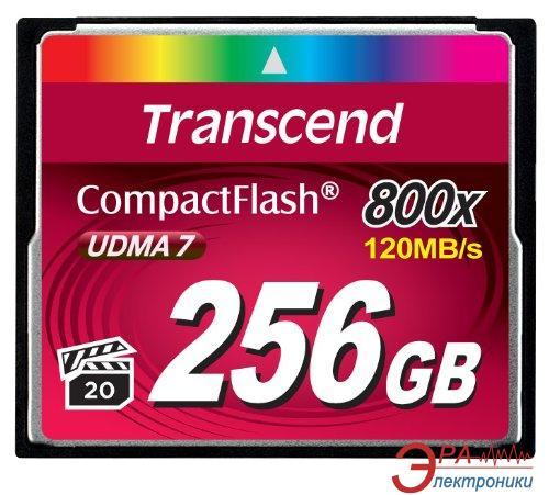 Карта памяти Transcend 256GB Compact Flash 800x (TS256GCF800)