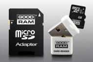 Карта памяти Goodram 16Gb microSD Class 10 UHS-1 +adapter+reader (USDR416GBC10R9)