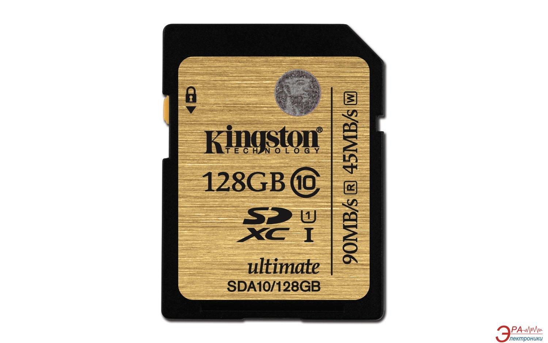 Карта памяти Kingston 128Gb SD Class 10 UHS-I (SDA10/128GB)