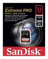 Карта памяти Sandisk 32Gb SD Class 10 ExtremePro 4K Class 10 UHS-II (SDSDXPB-032G-G46)