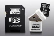 Карта памяти Goodram 8Gb microSD Class 10 3 in 1 memory RETAIL 9 (USDR48GBC10R9)
