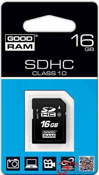 Карта памяти Goodram 16Gb SD Class 10 (SDC16GHC10GRR10)