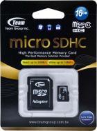Карта памяти Team 16Gb microSD Class 10 (TUSDH16GCL1003)