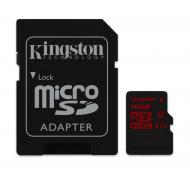 Карта памяти Kingston 16Gb microSD Class 10 UHS-I U3 + SD-adapter (SDCA3/16GB)