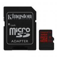 Карта памяти Kingston 32Gb microSD Class 10 UHS-I U3 + SD-adapter (SDCA3/32GB)