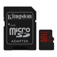 Карта памяти Kingston 32Gb microSD Class 10 UHS-I U3 + SD-adapter (SDCA3/32GB)