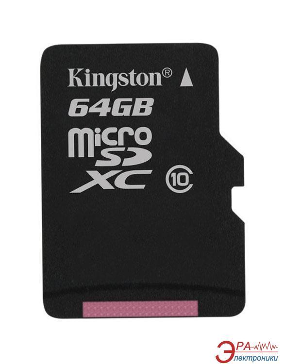 Карта памяти Kingston 64Gb microSD Class 10 (SDCX10/64GBSP)