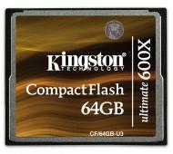 Карта памяти Kingston 64Gb Compact Flash 600x (CF/64GB-U3)