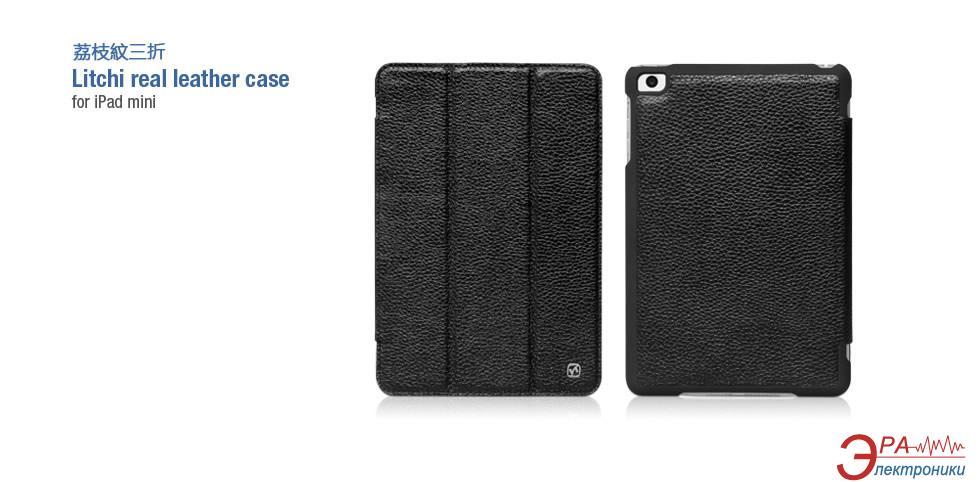 Чехол-подставка HOCO iPad mini Litchi real Leather case Black (HA-L012B)