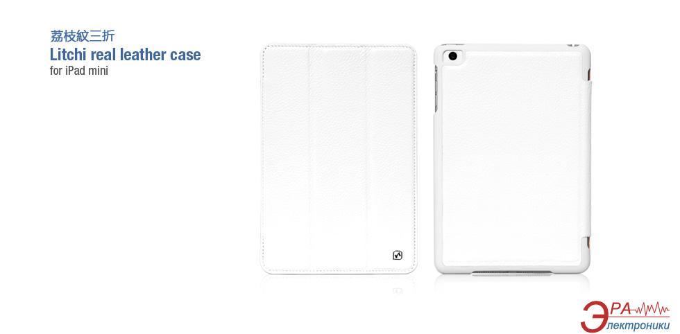 Чехол-подставка HOCO iPad mini Litchi real Leather case White (HA-L012W)
