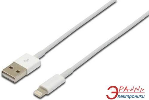 Кабель Digitus Lightning to USB 2.0 1m (AK-600100-010-W)