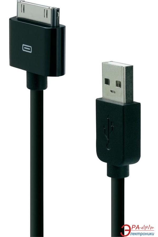 Кабель Belkin Basic iPhone/ iPod sync charge cable 1.2m Black (F8Z328EA04-BLK)