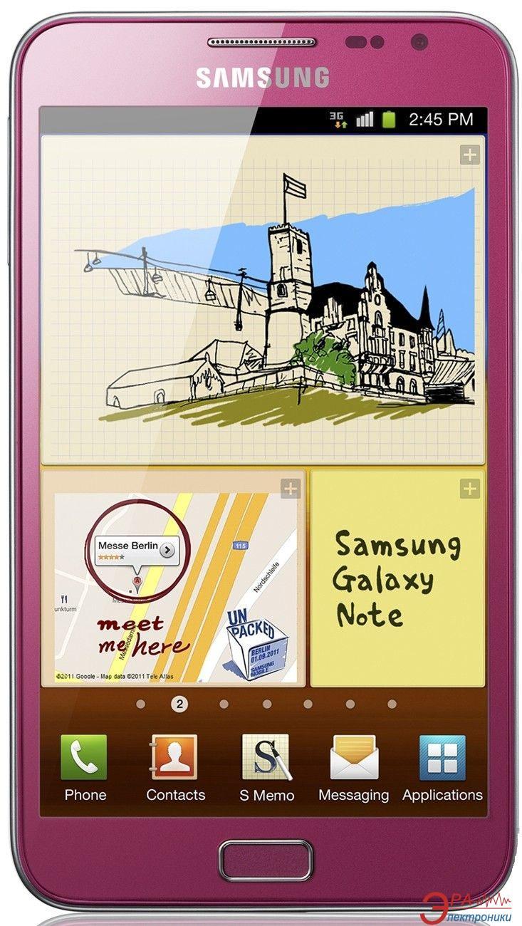 Смартфон Samsung GT-N7000 ZIA Galaxy Note Pink