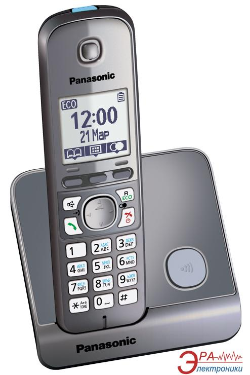 Радиотелефон Panasonic KX-TG6711UAM Metallic
