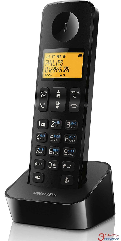 Радиотелефон Philips D2101B/51 Black