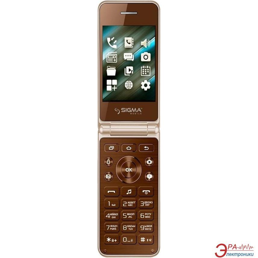 Мобильный телефон Sigma X-style 28 Flip Dual Sim Gold Mokka