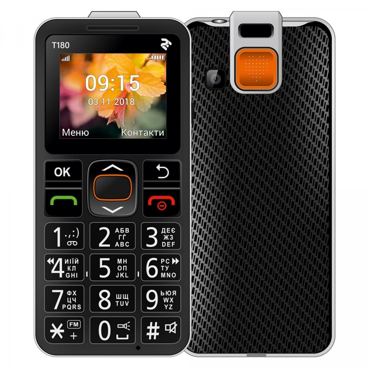 Мобильный телефон TWOE T180 SingleSim Black (708744071125)