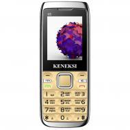 Мобильный телефон Keneksi Q5 Dual Sim Gold (4623720446888)