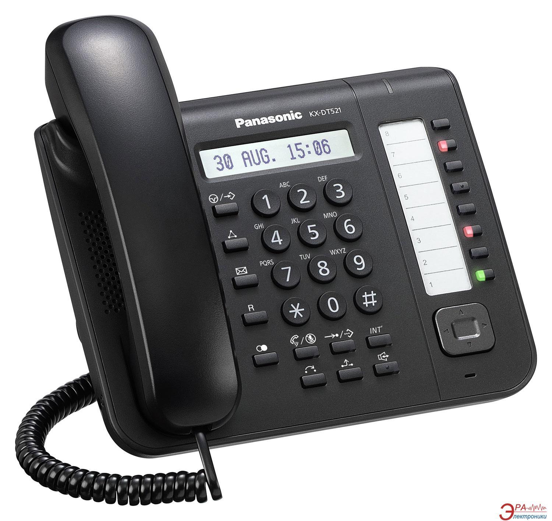Системный телефон Panasonic KX-DT521RU-B Black