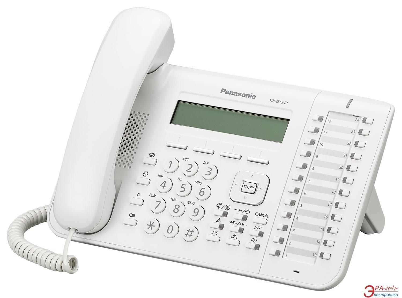 Системный телефон Panasonic KX-DT543RU White