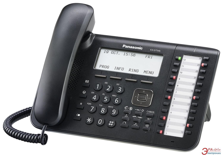 Системный телефон Panasonic KX-DT546RU-B Black