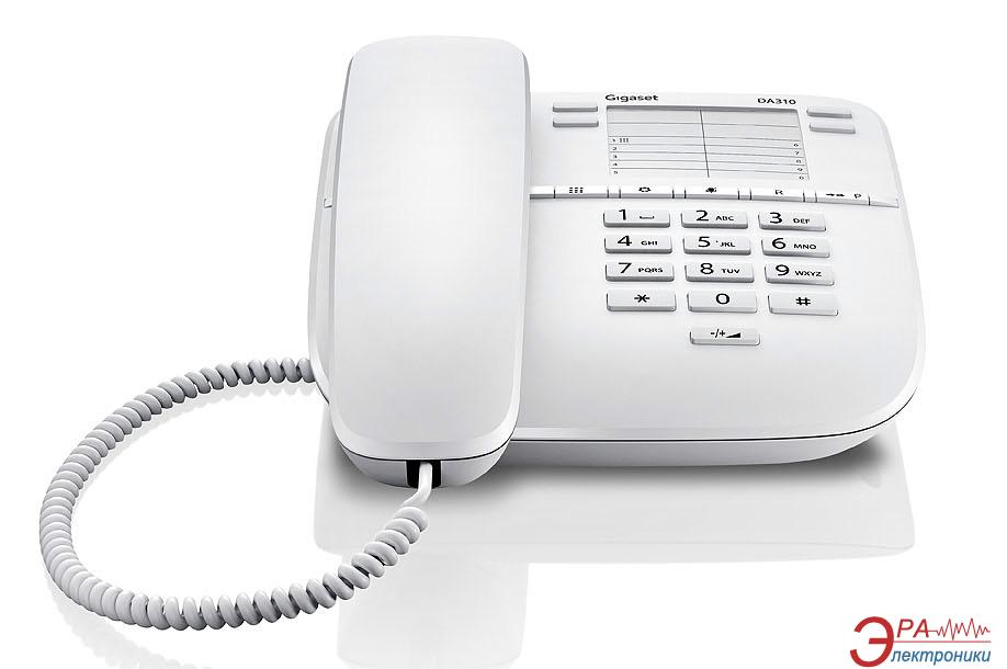 Проводной телефон Siemens Gigaset DA310 White