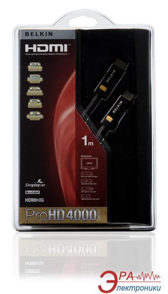 Кабель HDMI Belkin (AM/ AM) High Speed ProHD 4000 1m Black (AV10023QP1M)