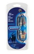 Кабель 2xRCA/2xRCA Bandridge BLUE 1m (BAL4201)