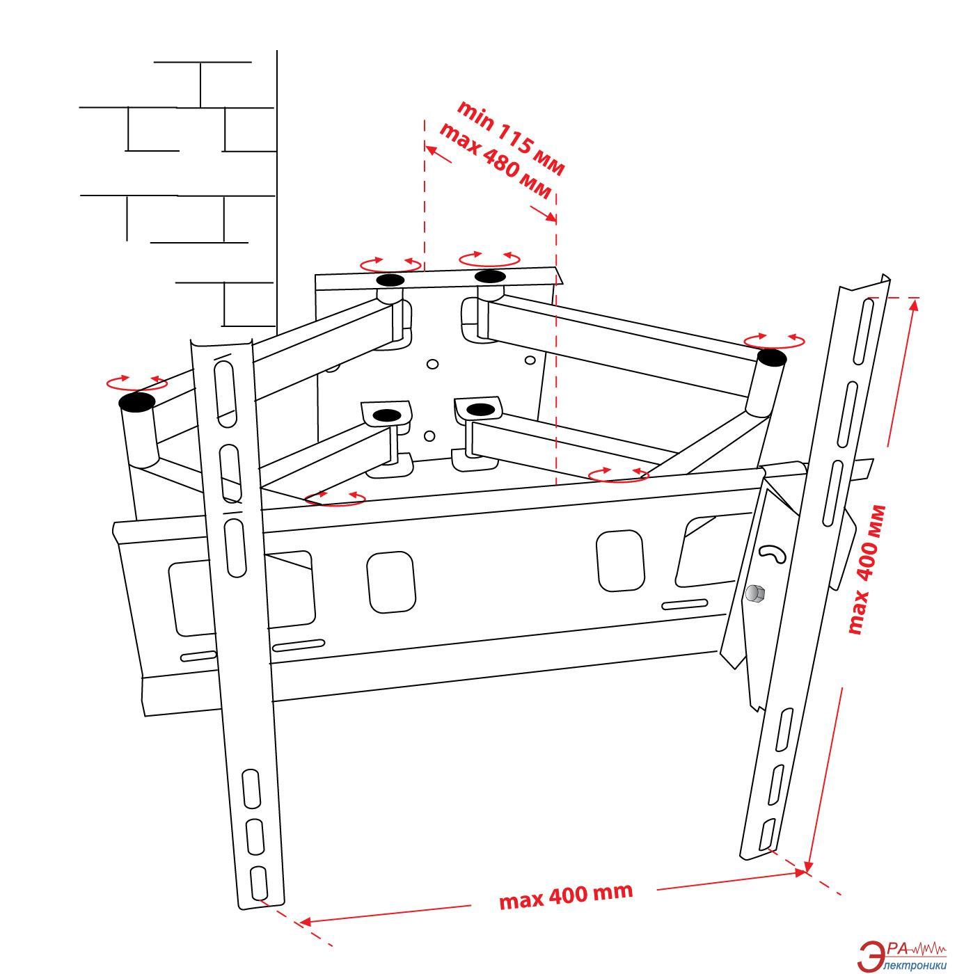 Схема креплений крепление телевизора к стене