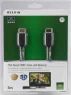 Кабель HDMI Belkin (AM/ AM) High Speed w/Ethernet 10m Black (F3Y021bf10M)