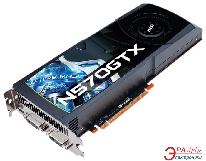 Видеокарта MSI Nvidia GeForce GTX570 GDDR5 1280 Мб (N570GTX-M2D12D5)