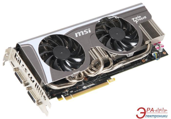 Видеокарта MSI Nvidia GeForce GTX570 GDDR5 1280 Мб (N570GTX_TwinFrozrII/OC)