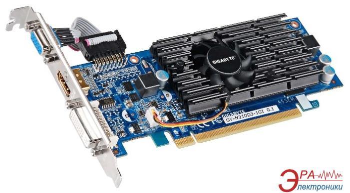 Видеокарта Gigabyte Nvidia GeForce 210 GDDR3 1024 Мб (GV-N210D3-1GI 1.0A) (GVN210D3GI-00-G)