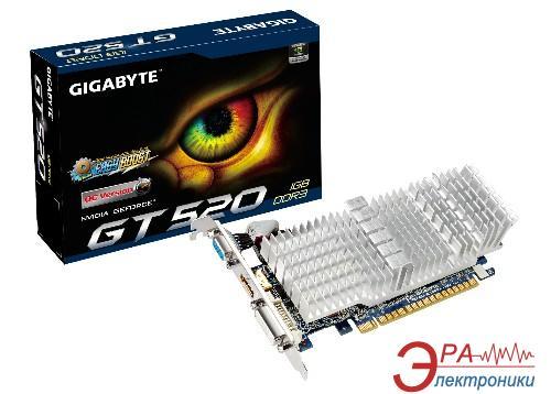 Видеокарта Gigabyte Nvidia GeForce GT 520 GDDR3 1024 Мб (GV-N520SL-1GI) (GVN520LGI-00-G)