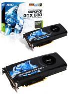 Видеокарта MSI Nvidia GeForce GT X680 GDDR5 2048 Мб (N680GTX-PM2D2GD5)