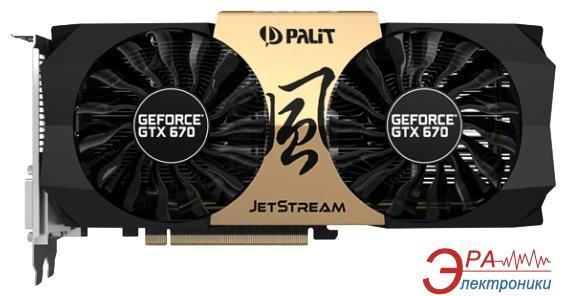 Видеокарта Palit Nvidia GeForce GTX 670 JETSTREAM GDDR5 2048 Мб (NE5X670H1042)