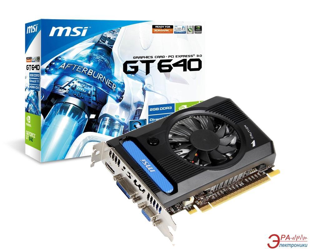 Видеокарта MSI Nvidia GeForce GT 640 GDDR3 2048 Мб (N640GT-MD2GD3_V2)